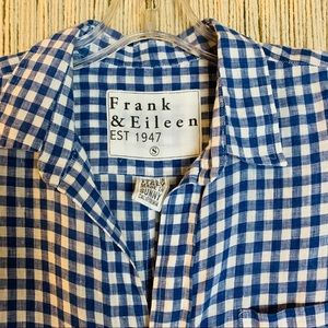 Frank & Eileen Blue and White Gingham Barry Size S